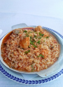 Rice with fish - Portuguese food